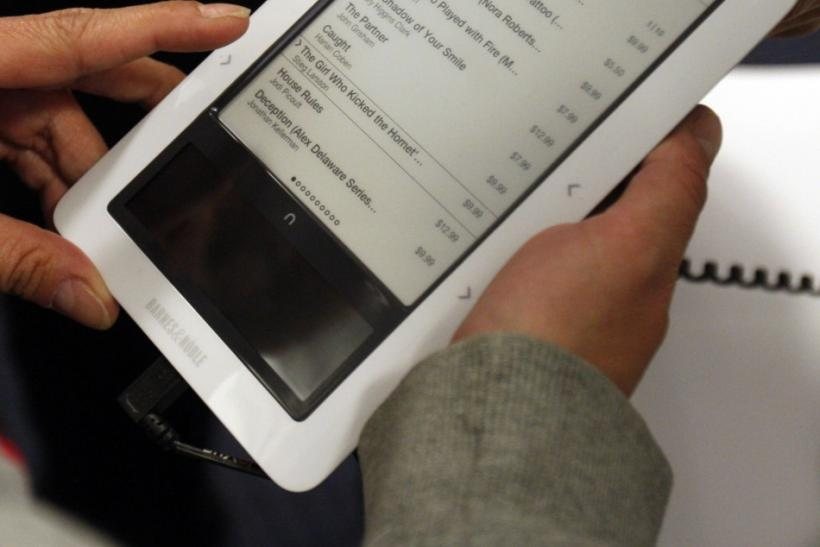 #10 Kindle Fire is better suited to take on other e-readers. (Nook pictured)