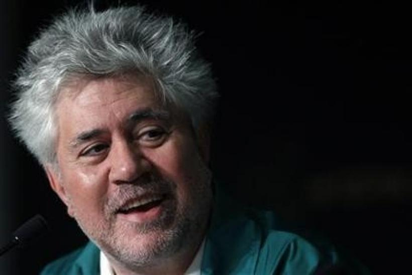 Director Pedro Almodovar attends a news conference for the film ''La Piel Que Habito'', in competition at the 64th Cannes Film Festival