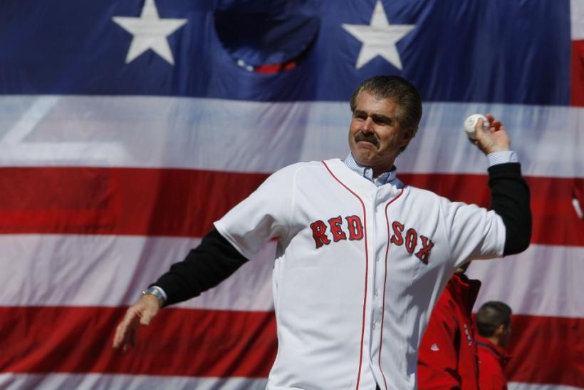 Former Red Sox player Buckner throws out ceremonial first pitch at MLB baseball game between Red Sox and Tigers in Boston