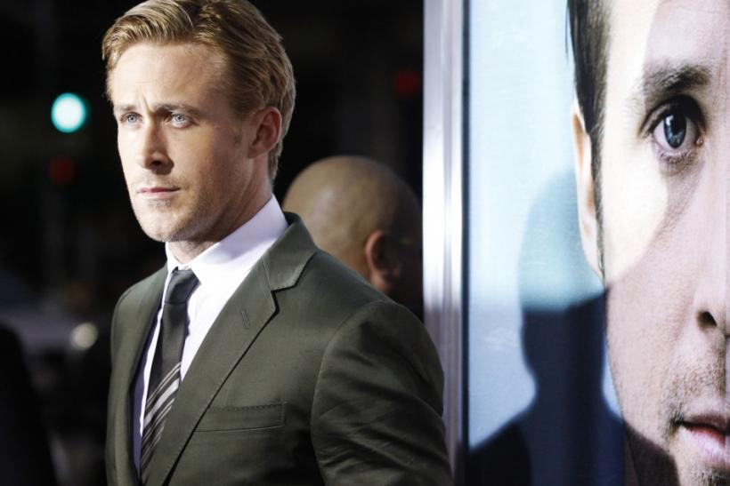 """Cast member Ryan Gosling poses at the premiere of """"The Ides of March"""" at the Samuel Goldwyn theatre in Beverly Hills, California"""