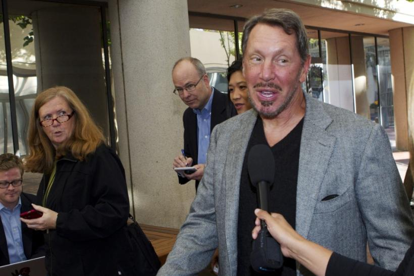 Oracle CEO Ellison arrives at the Robert F. Peckham Federal Courthouse in San Jose