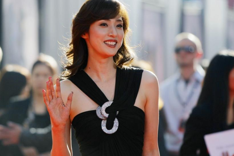 "Japanese actress Yuki Amami poses at the premiere of ""Real Steel"" in Los Angeles"