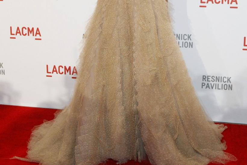 Wilde poses at the gala for the opening of the Lynda and Stewart Resnick pavilion at the Los Angeles County Museum of Art (LACMA) in Los Angeles