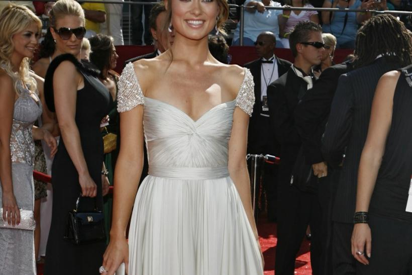 Actress Olivia Wilde arrives at the 60th annual Primetime Emmy Awards in Los Angeles