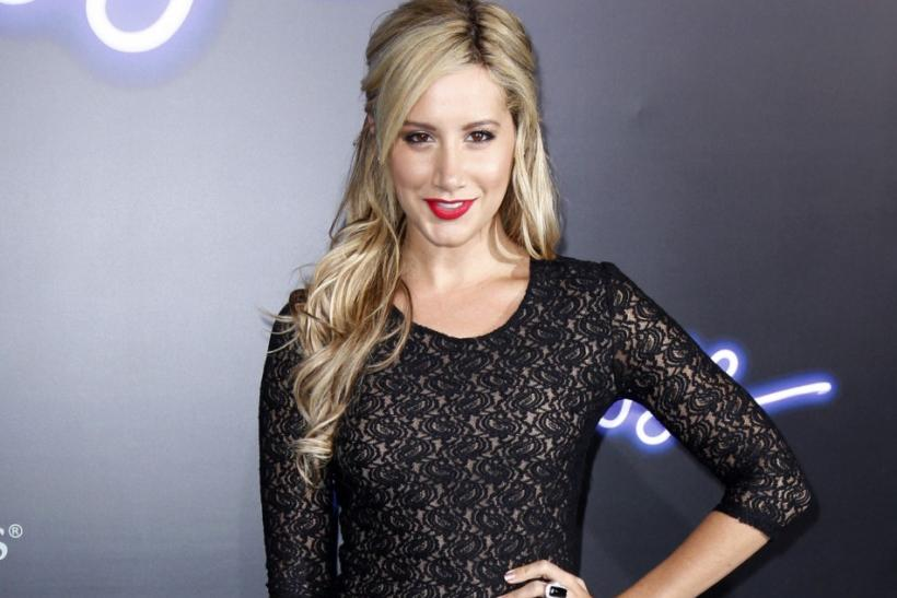 """Actress Ashley Tisdale arrives at the premiere of the film """"Footloose"""" in Los Angeles"""