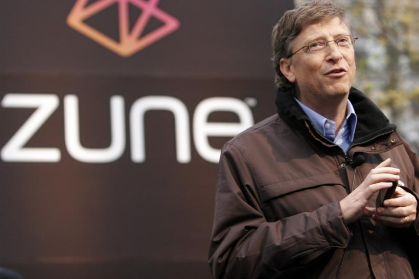 Bill Gates addresses the crowd at a launch party for the Zune media player in downtown Seattle. The 4-year-old mp3 player will be discontinued, according to Microsoft.