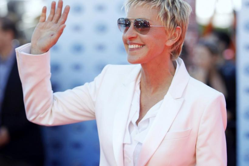 Judge Ellen DeGeneres arrives for the 9th season finale of 'American Idol' in Los Angeles