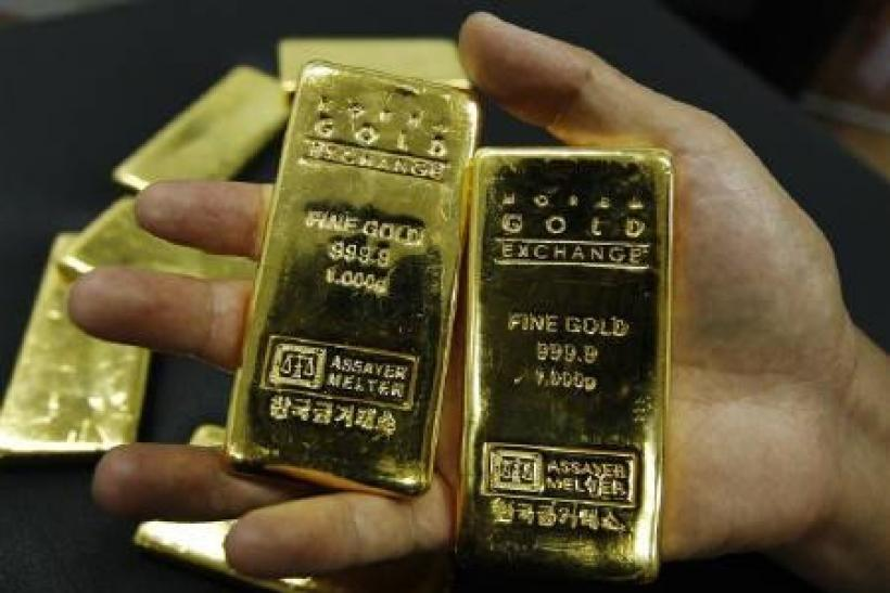 Gold bars at the Korea Gold Exchange