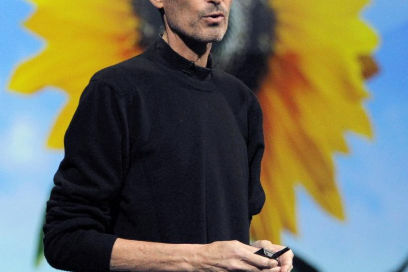 Steve Jobs takes the stage to discuss the iCloud service at the Apple Worldwide Developers Conference in San Francisco
