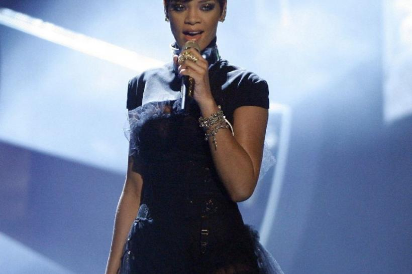 "Last week's number one single, ""We Found Love"" by Rihanna, featuring Calvin Harris, fell to third place."