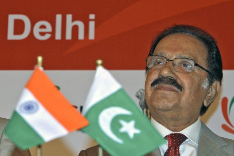 Pakistan's Trade Minister Makhdoom Amin Fahim attends India-Pakistan Business Conclave in New Delhi