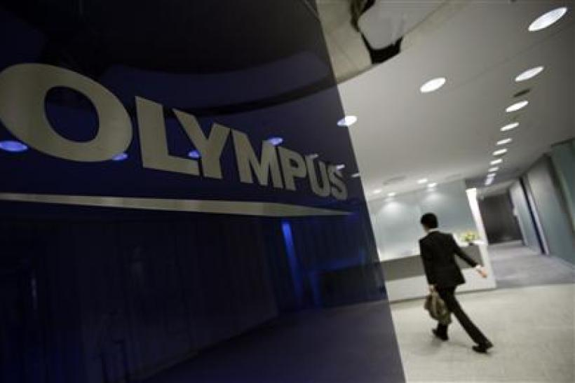 File photo of logo of Japanese camera and endoscope maker Olympus Corp in Tokyo