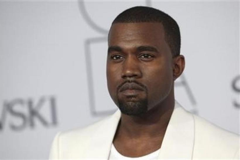 Kanye West arrives at the CFDA Fashion awards at the Lincoln Center's Alice Tully Hall in New York City