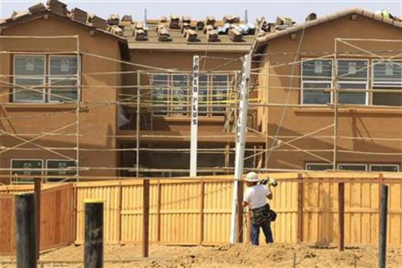 New residential homes are shown under construction in Carlsbad
