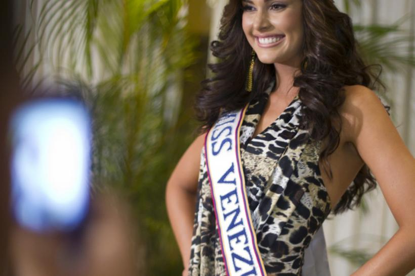 Miss Venezuela 2011 Irene Esser poses for the media during a news conference in Caracas