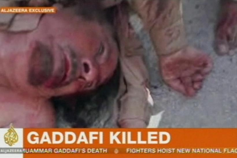Gadhafi's body, reported by al Jazeera