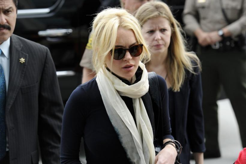 Lohan arrives for a hearing at the Airport Branch Courthouse in Los Angeles