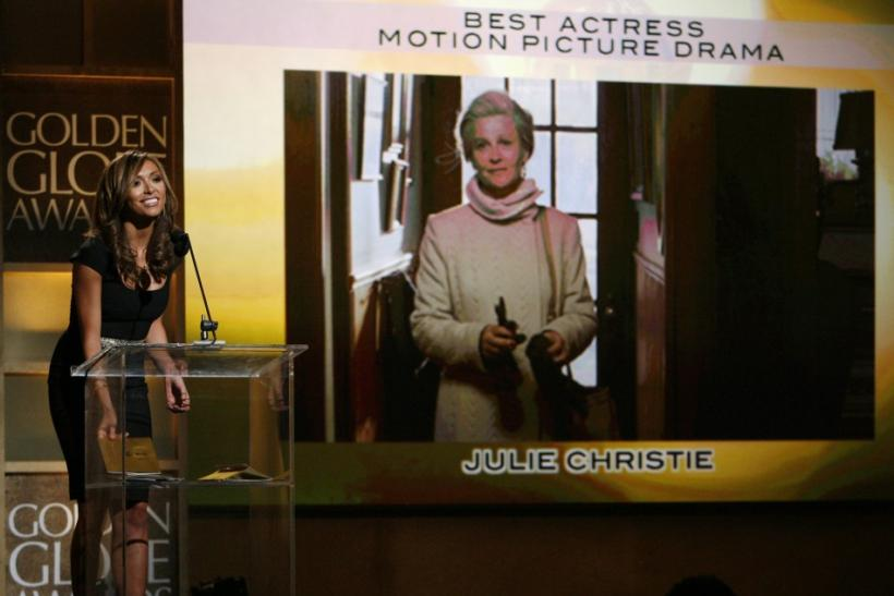 Entertainment journalist Rancic announces actress Christie as winner of the Golden Globe Award for best actress in Beverly Hills