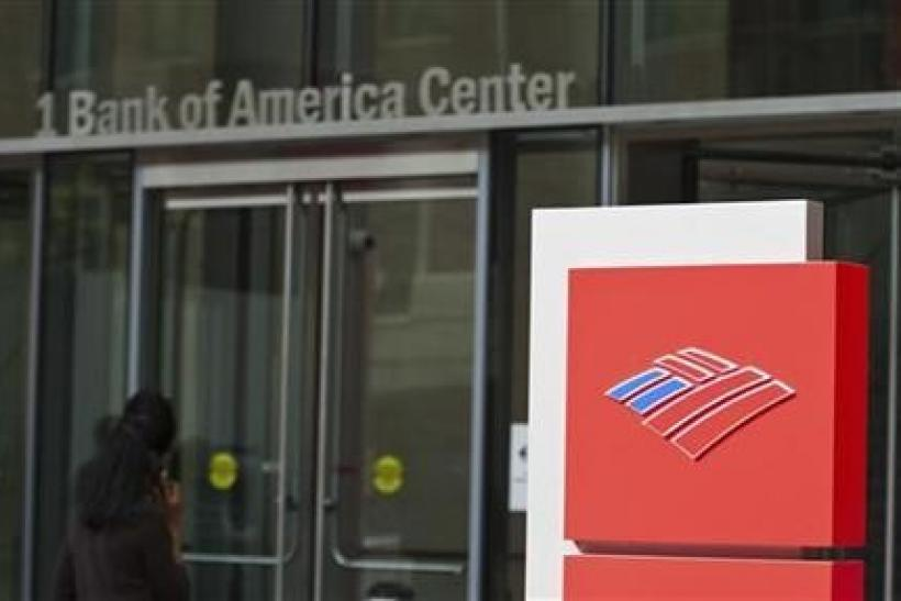 A Bank of America shareholder walks into the corporate headquarters prior to the start of the Bank of America annual shareholders meeting in Charlotte, North Carolina