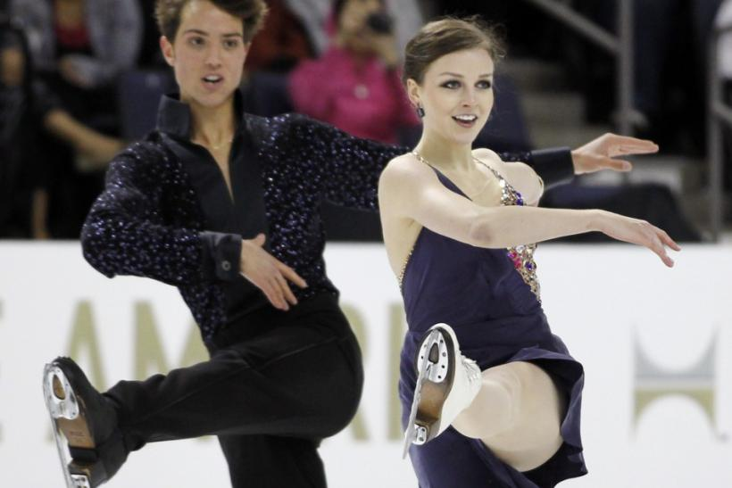 Alexandra Paul and Mitchell Islam of Canada perform during the Ice Dance Short Dance competition at the Skate America ISU Grand Prix of Figure Skating in Ontario, California