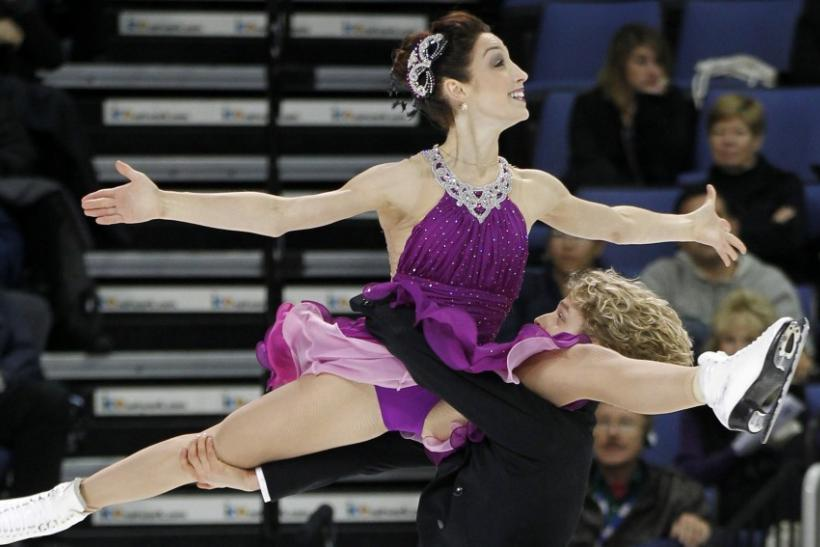 Meryl Davis and Charlie White of the U.S. perform during the ice dance free dance competition at the Skate America ISU Grand Prix of Figure Skating in Ontario, California