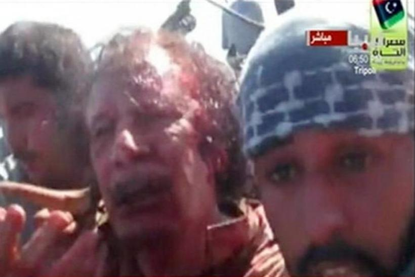 """Moammar Gadhafi Dead: Final Moments Captured Before the """"Mad Dog' Died [GRAPHIC PHOTOS]"""