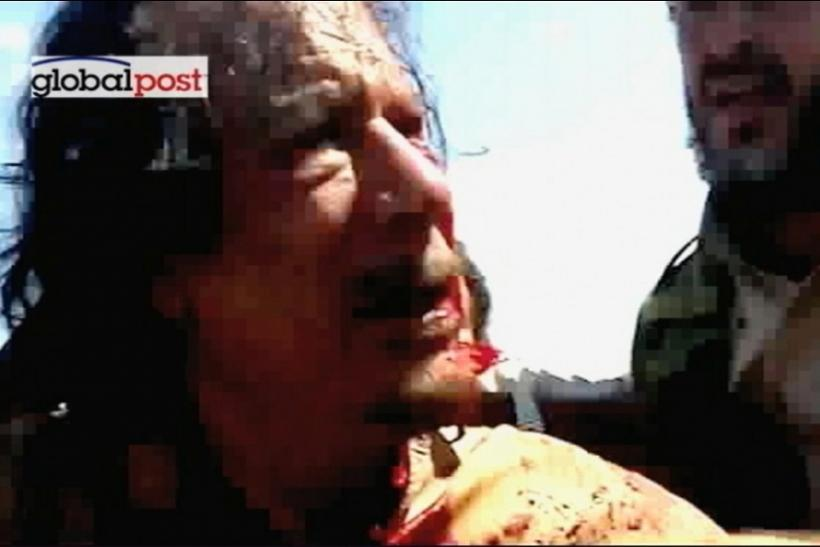 "Moammar Gadhafi Dead: Final Moments Captured Before the ""Mad Dog' Died [GRAPHIC PHOTOS]"