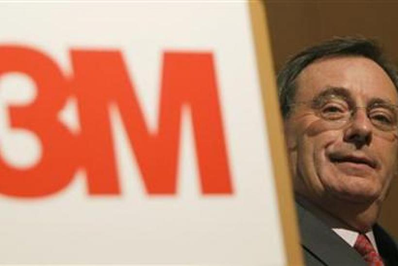 U.S. manufacturer 3M Co CEO George Buckley attends a news conference in Tokyo