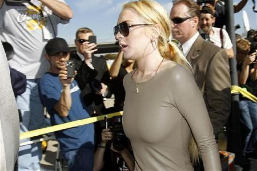 Actress Lindsay Lohan arrives at Airport Courthouse in Los Angeles