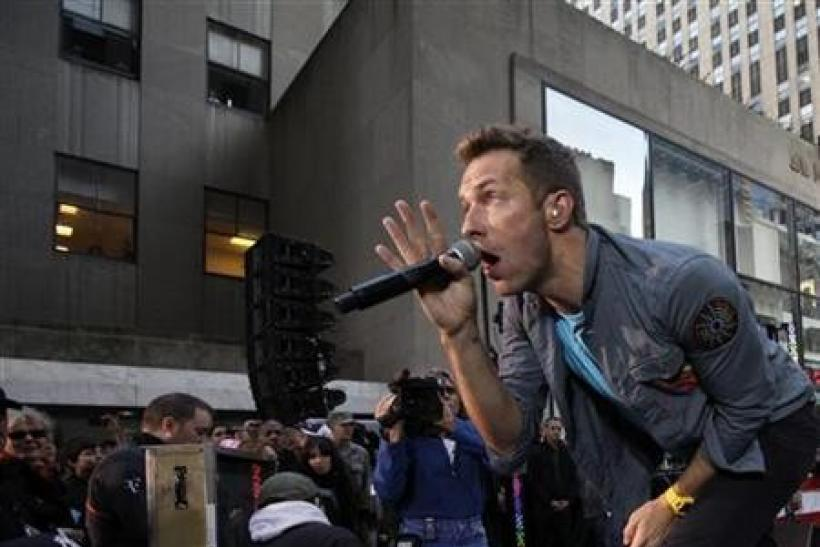 Coldplay's singer Chris Martin performs on NBC's ''today'' show in New York