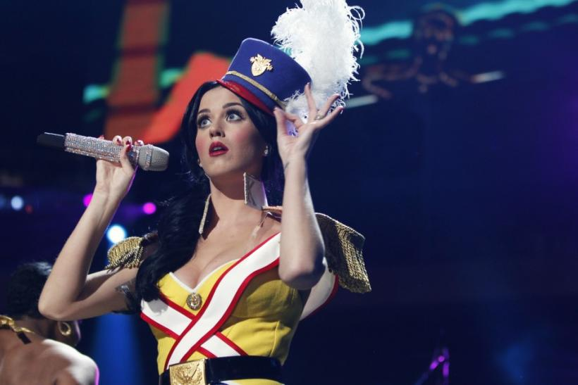 Singer Katy Perry performs during the Z100 Jingle Ball in New York