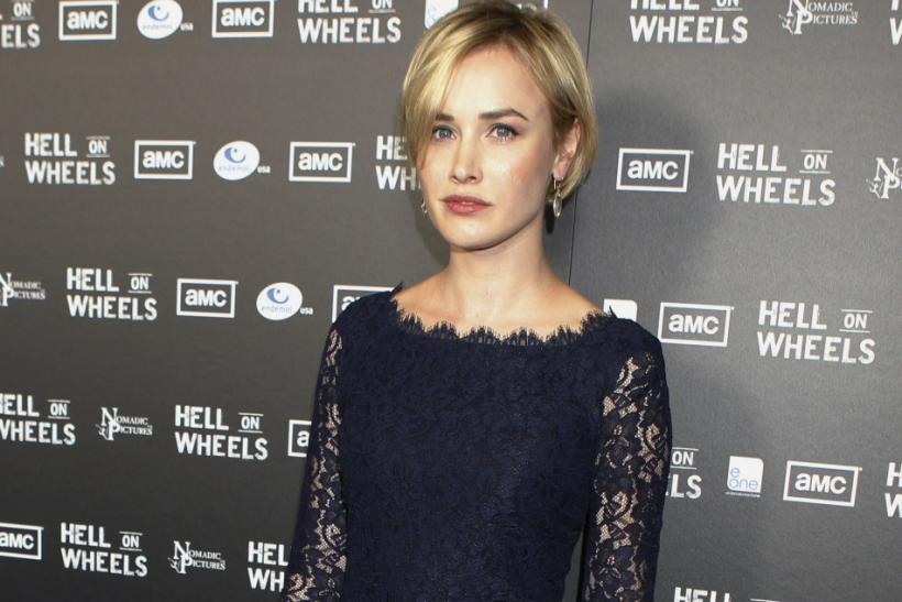 "Cast member and Irish actress Dominique McElligott poses at the premiere screening of AMC cable channel's new series ""Hell on Wheels"" in Los Angeles"