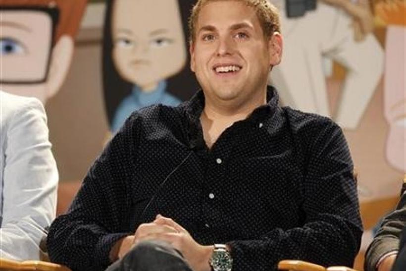 Jonah Hill, creator, executive producer and voice character of the new animated series ''Allen Gregory'' speaks during a panel session at the FOX Summer TCA Press Tour in Beverly Hills, California