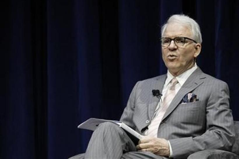 Actor Steve Martin participates in the Live Talks Los Angeles session ''Tina Fey: A Conversation With Steve Martin'' at Nokia Theatre in Los Angeles
