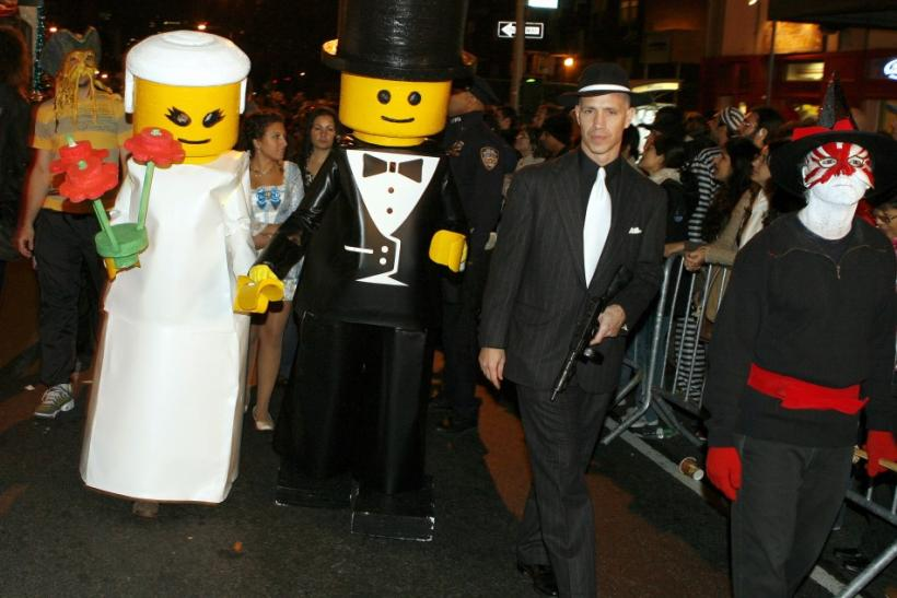 Participants dressed as Lego toys take part in the annual Greenwich Village Halloween Parade in New York