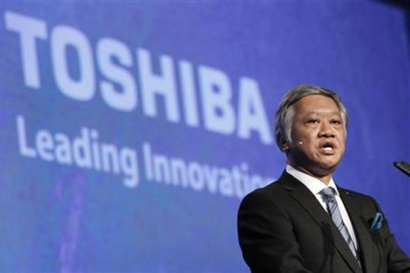 CEO of Toshiba Osumi delivers keynote speech at the IFA consumer electronics fair in Berlin