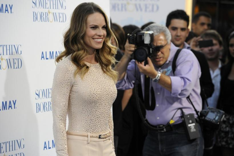 "Hillary Swank attends the premiere of the film ""Something Borrowed"" in Los Angeles"