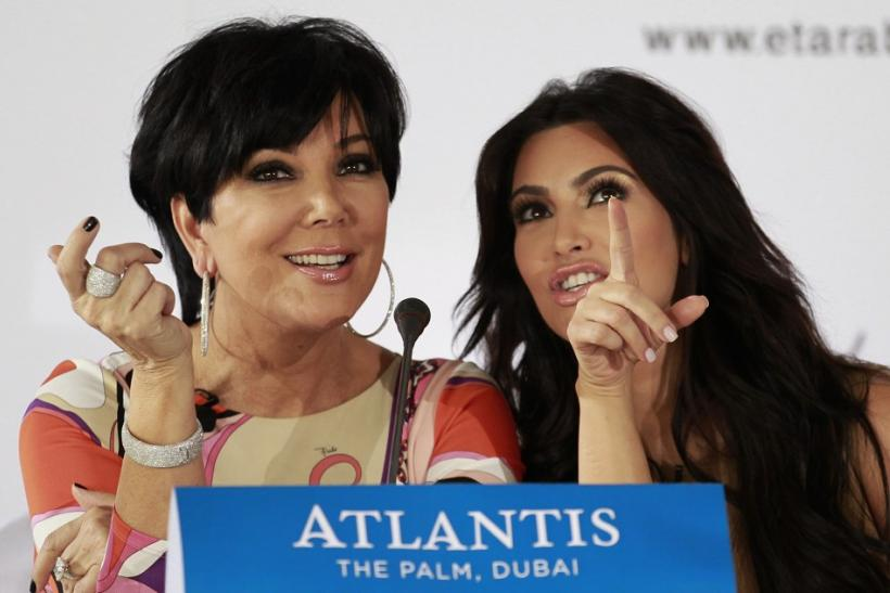 Kris Jenner with daughter, Kim Kardashian