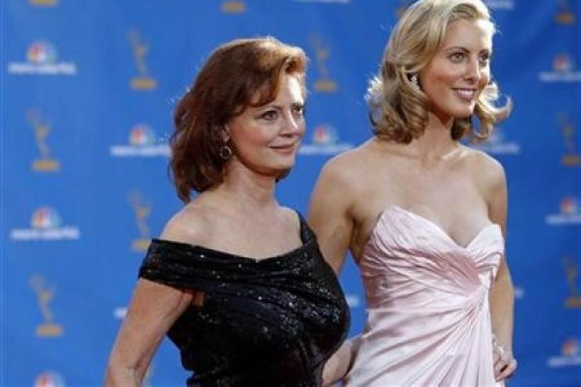 Actresses Susan Sarandon and her daughter Eva Amurri pose at the 62nd annual Primetime Emmy Awards in Los Angeles