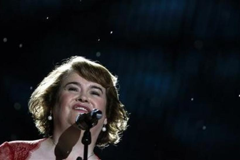 British singer Susan Boyle performs during the final round of ''China's Got Talent'' in Shanghai