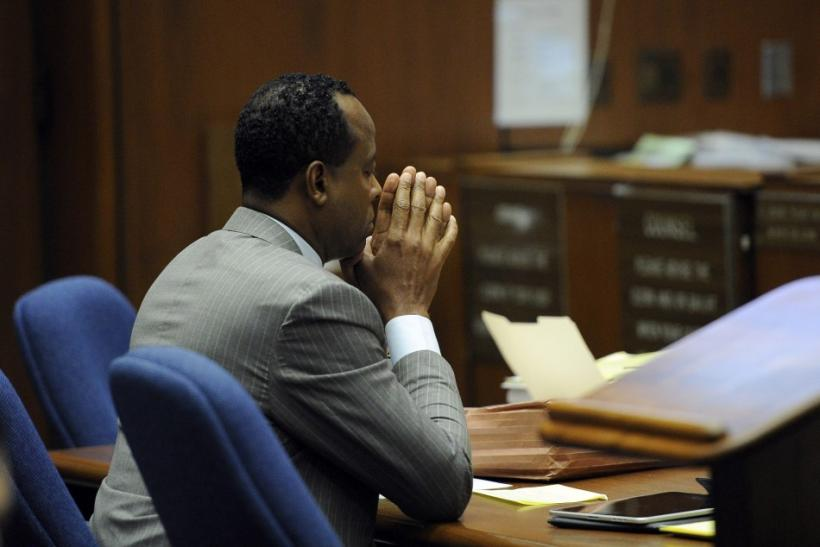 Dr. Conrad Murray sits in the courtroom during his trial in the death of pop star Michael Jackson in Los Angeles
