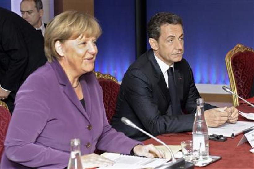 France's President Sarkozy and Germany's Chancellor Merkel attend crisis talks in Cannes on the eve of the G20 summit