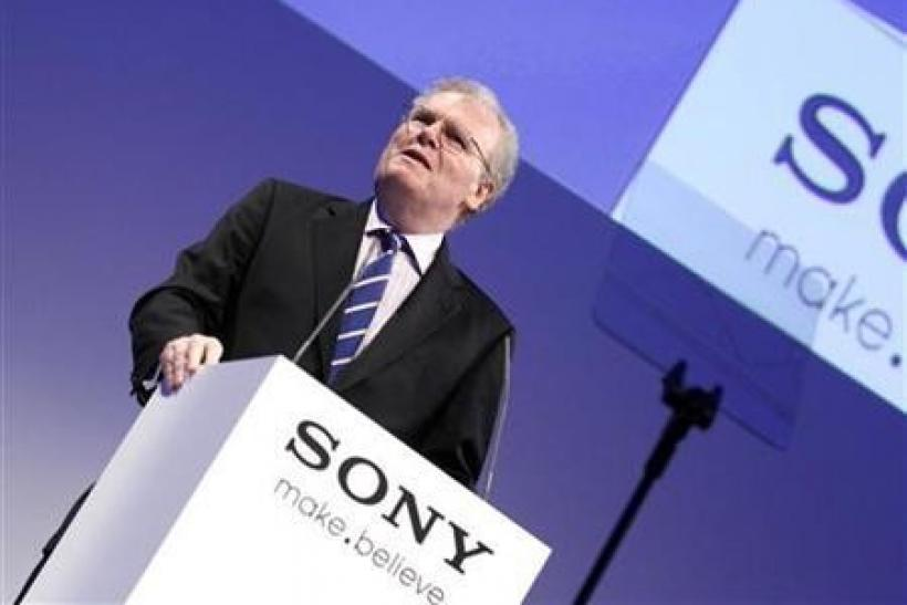Sony Corporation CEO Howard Stringer addresses a news conference at the IFA consumer electronics fair in Berlin