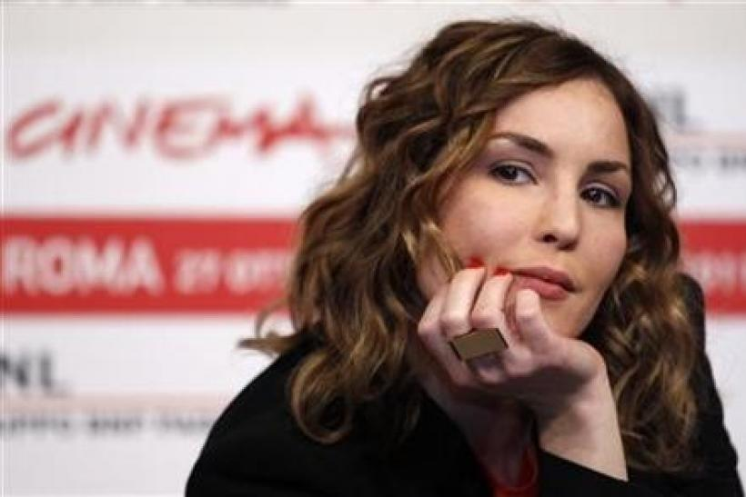 Actress Noomi Rapace poses during a photocall of the movie ''Babycall'' of director Pal Sletaune at the Rome Film Festival