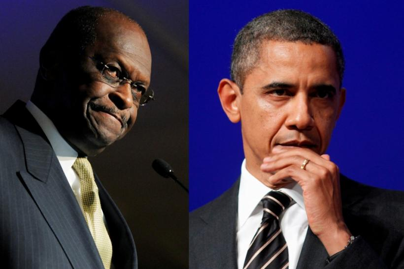 Herman Cain and President Obama