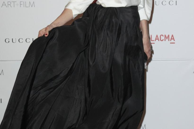 Actress Uma Thurman arrives at the Los Angeles County Museum of Art (LACMA) Art + Film Gala in Los Angeles, California