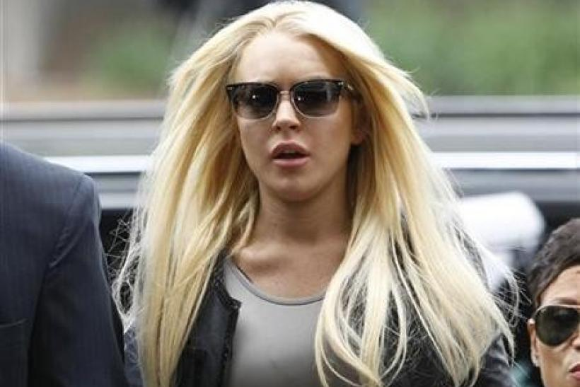 Actress Lindsay Lohan arrives at the Beverly Hills Municipal Courthouse