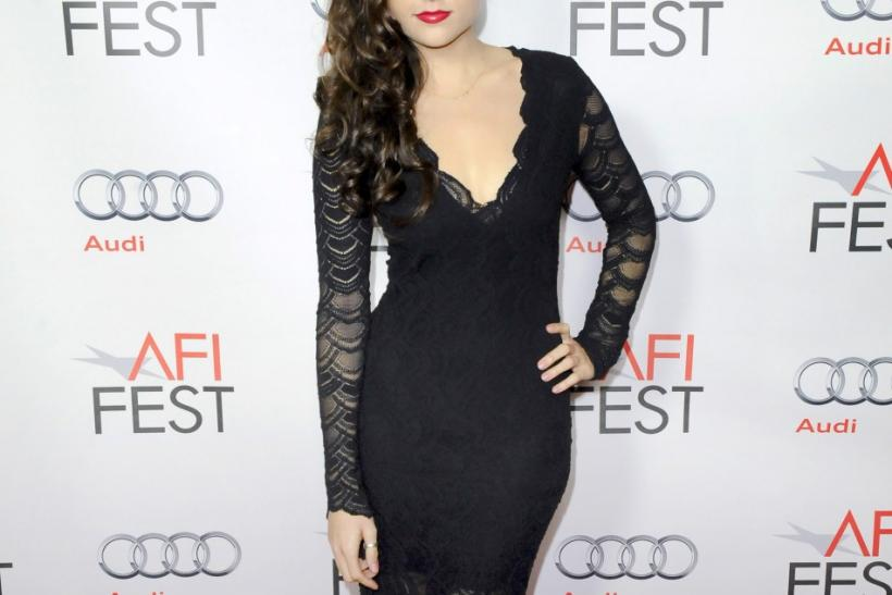 """Actress Sasha Gray arrives at the premiere of """"I Melt With You"""" during the AFI FEST Film Festival in the Hollywood area of Los Angeles, California"""