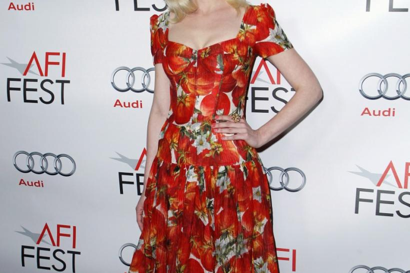 """Cast member Kirsten Dunst poses at a screening of the film """"Melancholia"""" during AFI Fest 2011 in Hollywood"""