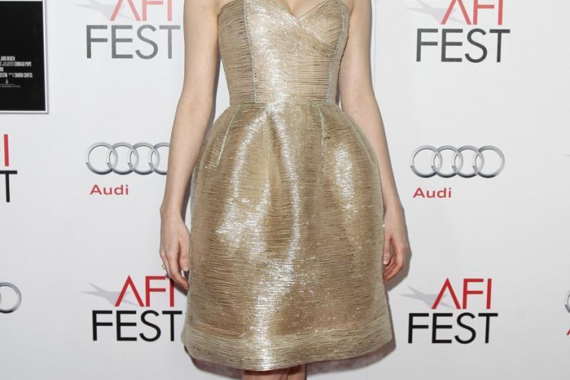 """Actress Michelle Williams, who portrays Marilyn Monroe in the film """"My Week With Marilyn"""", poses at a screening of the movie during AFI Fest 2011 in Hollywood"""